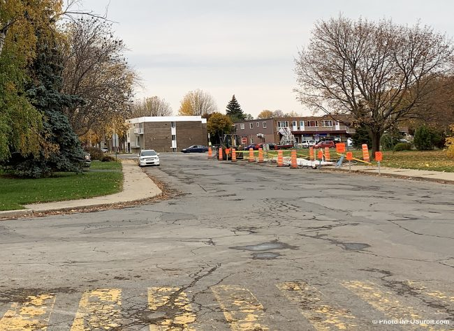 asphalte trottoir rue Gagnon Beauharnois travaux a venir oct2019 photo INFOSuroit