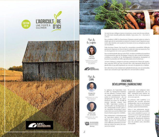 bulletin L_agriculture d_ici MRC de Beauharnois-Salaberry