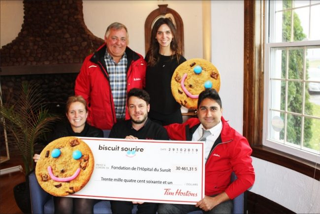 campagne 2019 biscuit Sourire de Tim_Hortons pour fondation Hopital du Suroit photo FHS
