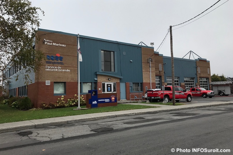 edifice Paul-Marleau service securite incendie caserne pompiers Valleyfield photo INFOSuroit