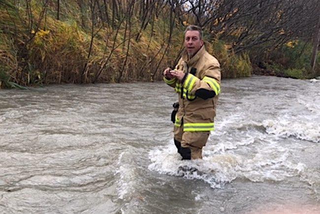 inondations et vents chemin du Canal photo Municipalite de Saint-Stanislas