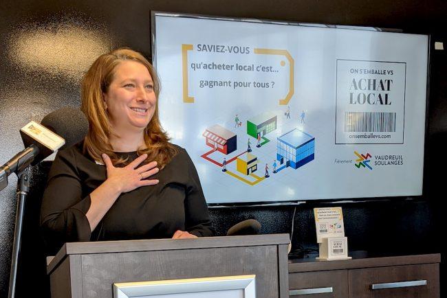 lancement campagne achat local Isabelle_Mercier DEV Vaudreuil-Soulanges photo DEV