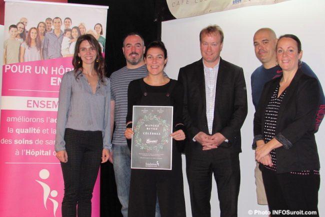 lancement nouvelle campagne Sante Fondation Hopital du Suroit avec restaurateurs 5nov2019 photo INFOSuroit