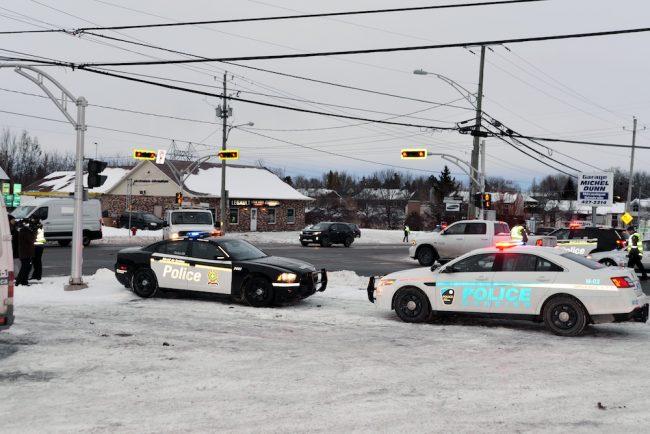 opreation prevention route 138 intersection 205 photo via police Surete du Quebec