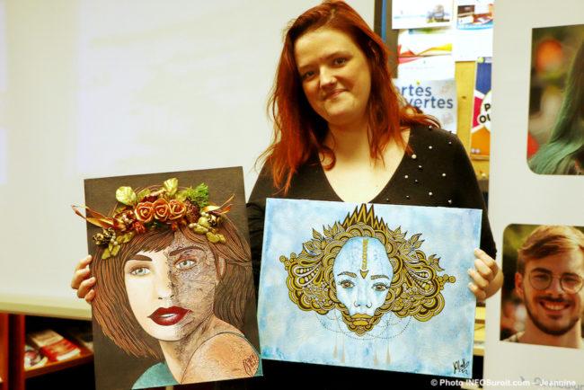 Jenofa_Guillaumin laureate Vocation en art 2019 CJE Beauharnois-Salaberry photo JH INFOSuroit