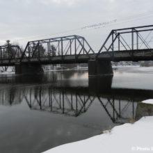 pont a Sainte-Martine au-dessus de la riviere Chateauguay hiver photo INFOSuroit