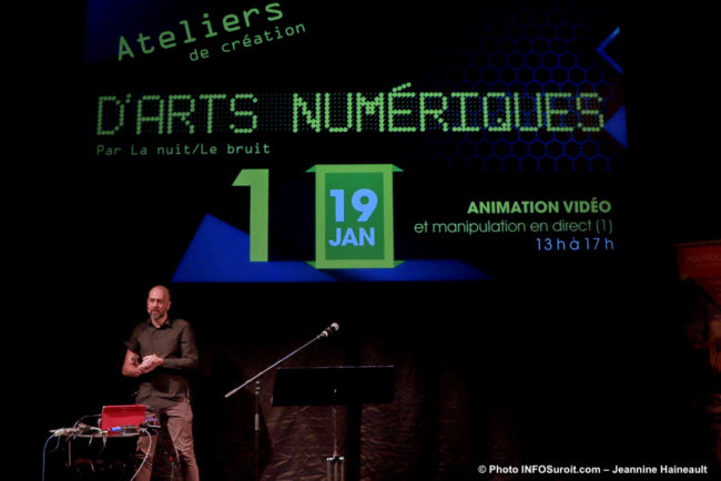 presentation JF_Boisvenue ateliers arts numerique bientot a Valleyfield photo JH INFOSuroit