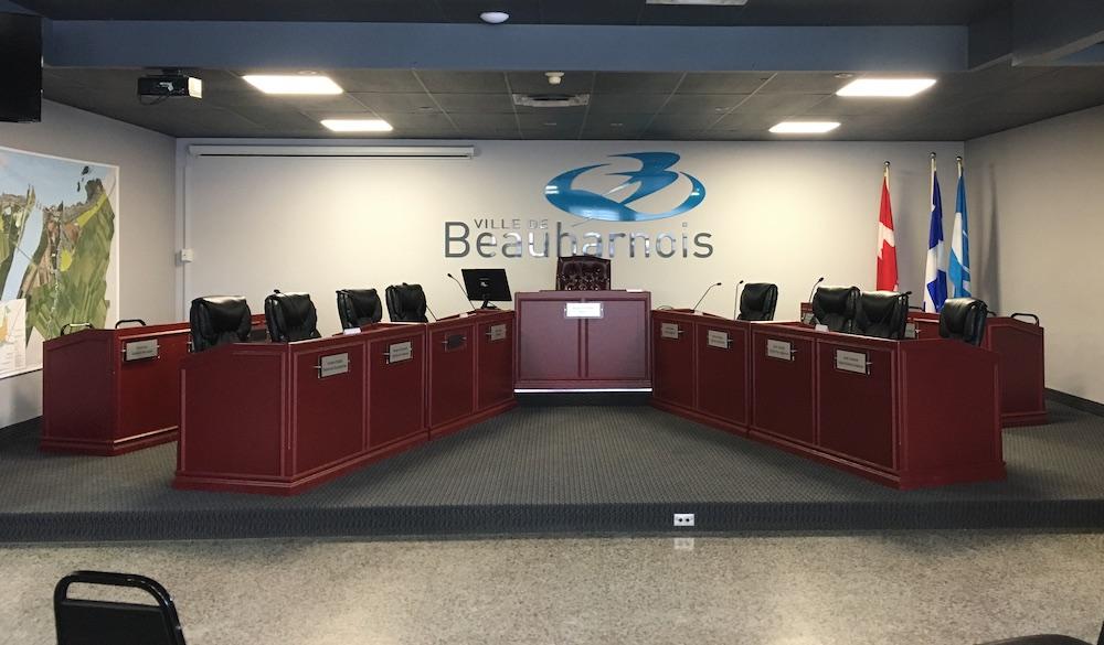salle du conseil de Beauharnois photo courtoisie la ville
