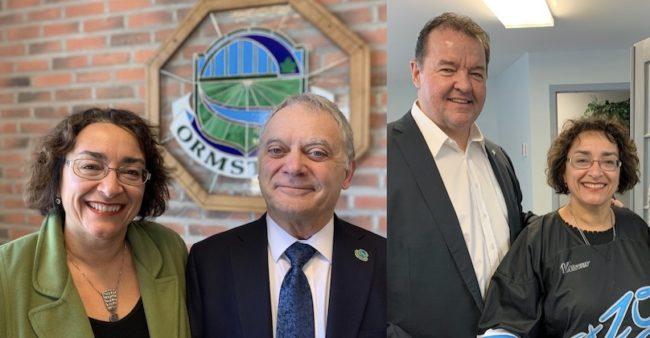 Deputee CDeBellefeuille avec maires JLapierre et YChiasson photo courtoisie