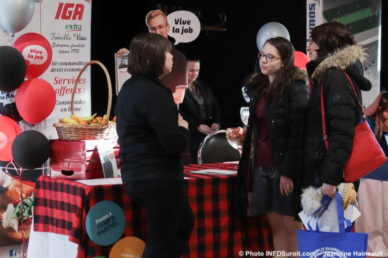 Journee Emplois Etudiants et Saisonniers VS 2020 Ile-Perrot visiteurs kiosque IGA photo JH INFOSuroit