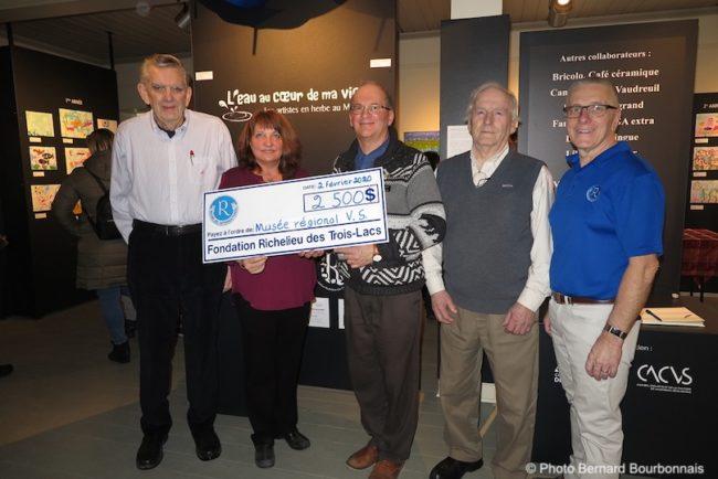 Musee regional VS concours Artistes en herbe 2020 remise cheque Fondation Richelieu photo BB