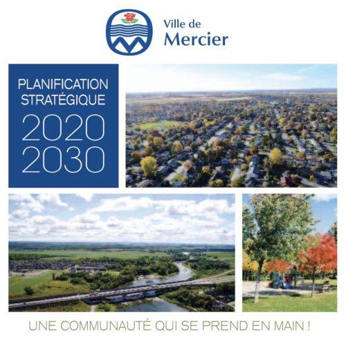Ville de Mercier Plan strategique 2020-2030 couverture visuel courtoisie