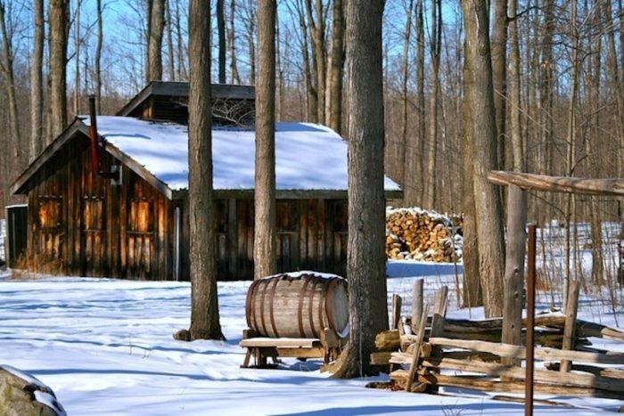 cabane a sucre erabliere neige photo courtoisie DEVVS