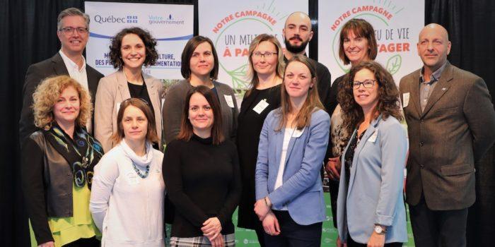 comite regional campagne sensibilisation Un milieu de vie a partager photo via MRC BhS