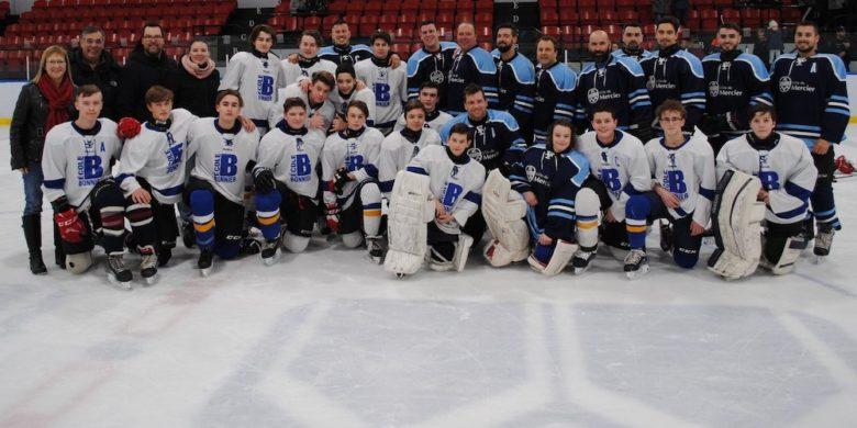 match hockey policiers Mercier et eleves ecole Bonnier 21fev20 photo courtoisie