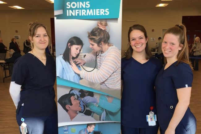 programme soins infirmiers Cegep de Valleyfield Clinique vaccination 2019 photo ColVal