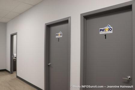 visite clinique medicale Coop Beauharnois en sante salles Physio fev20 photo JH INFOSuroit