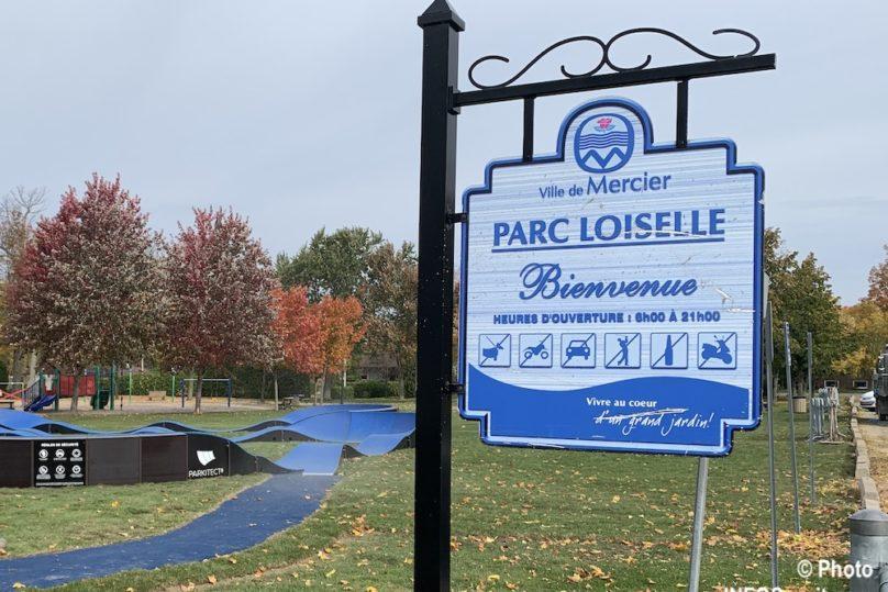 enseigne Parc Loiselle Ville de Mercier automne 2019 photo INFOSuroit