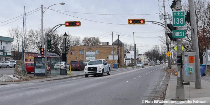 intersection rue de_l_Eglise et route 138 a Mercier photo Jeannine_Haineault INFOSuroit