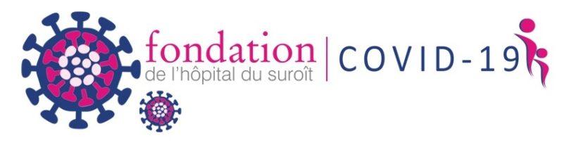 logo Fondation hopital suroit et COVID-19 mars2020