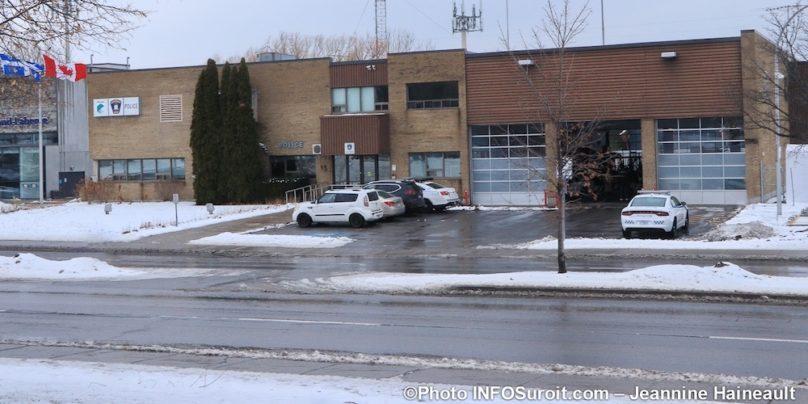 poste de police Ville de Chateauguay hiver photo JHaineault INFOSuroit